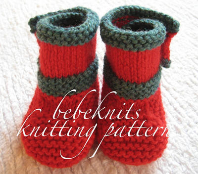 Side Buttoned Baby Boots Knitting Pattern