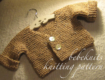 Simple French Style V Neck Baby Cardigan Knitting Patttern