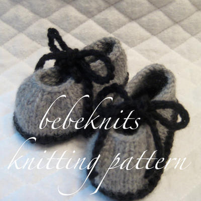 Simple Tie Up Bootie Knitting Pattern