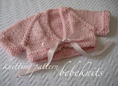 Sweet Newborn Front Tie Baby Cardigan