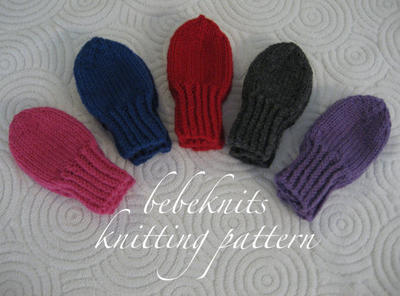 Thumbless Toddler Mittens