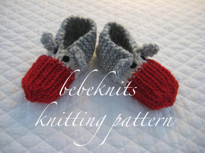 Toddler Sock Monkey Slippers Knitting Pattern in 3 Sizes