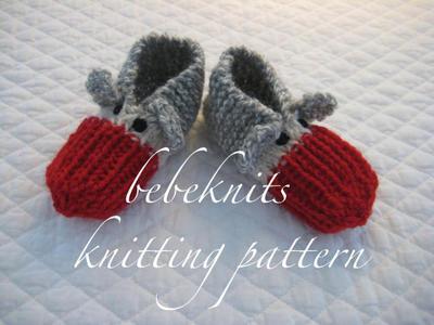 Toddler Sock Monkey Slippers Knitting Pattern in 3 Sizes