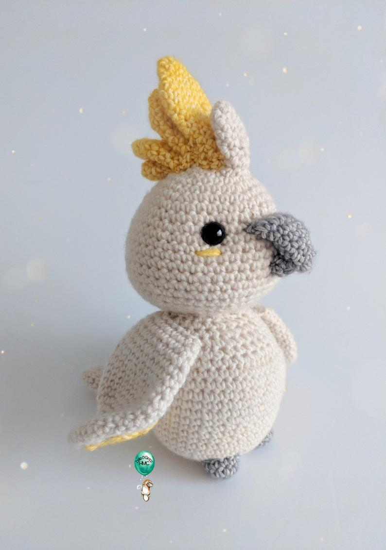 Crochet Cockatoo Pattern - Percy - Amigurumi bird