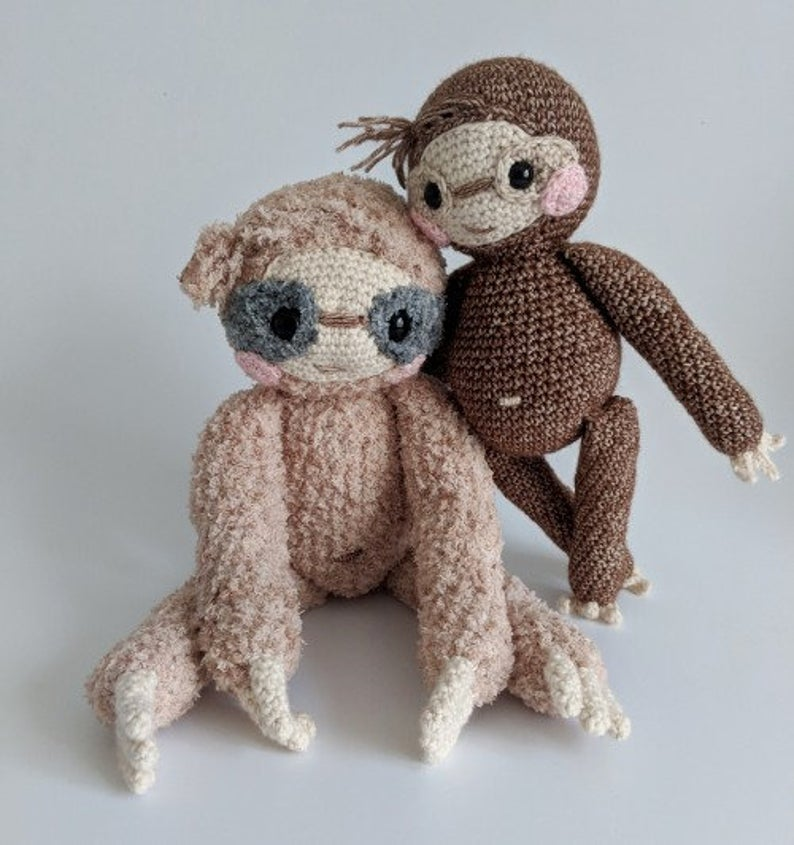 Crochet Sloth - Amigurumi Pattern - pdf file