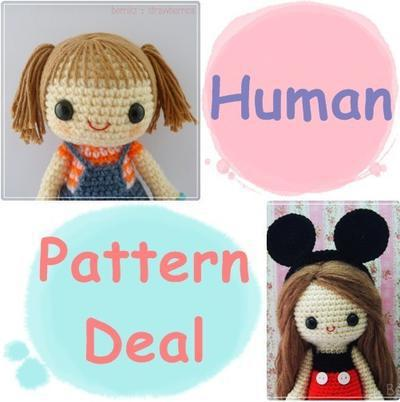 4 Human Pattern Deal - Choose your favourite