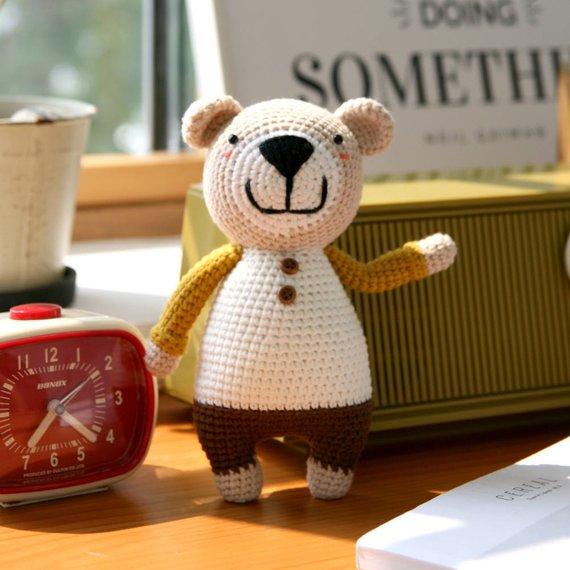 Crochet pattern-The little bear Tommy