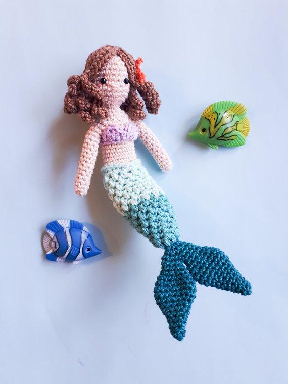 Mermaid amigurumi doll crochet pattern