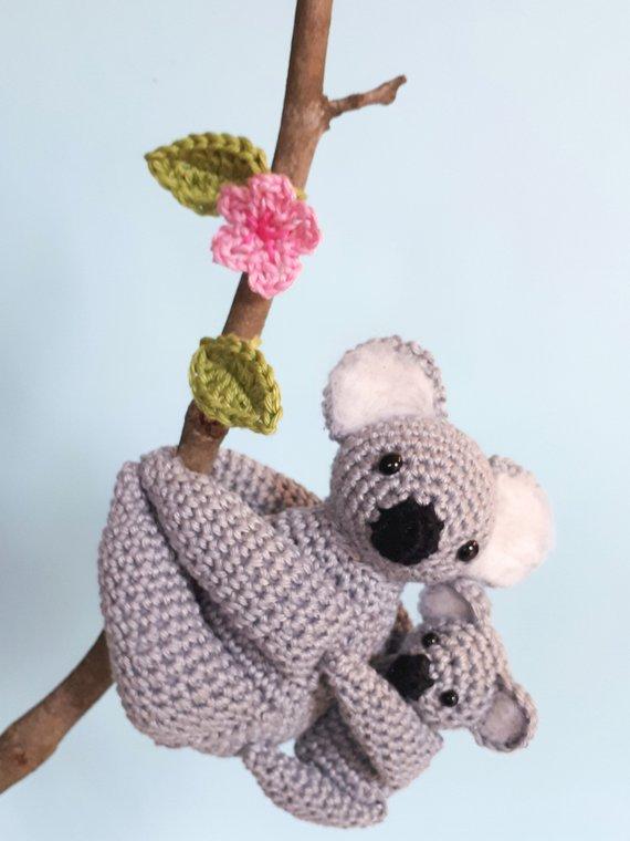 Mom and baby koala stuffed animals tutorial