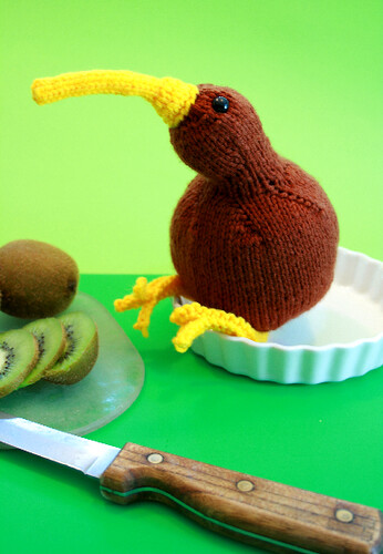 Kiwi Bird Knitting Pattern