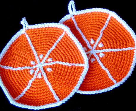 Orange Slice Pot Holders