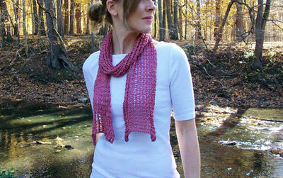 Easy Knit Lace Scarf Pattern Instant Download