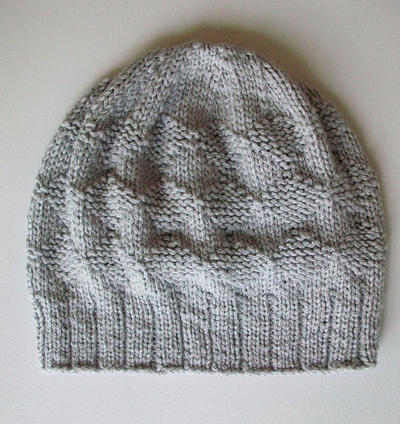 Easy Knitting Hat Pattern Slouchy Diamond Hat Reversable Cap