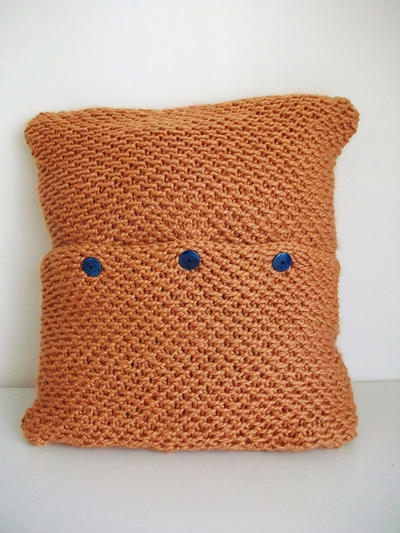 Easy Knitting Pillow Cover Pattern 24x24  Retro Mode
