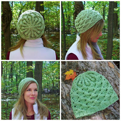 Knitting Hat Pattern Shamrock Slouchy