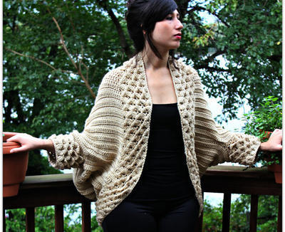 Crocodile Stitch Cardigan