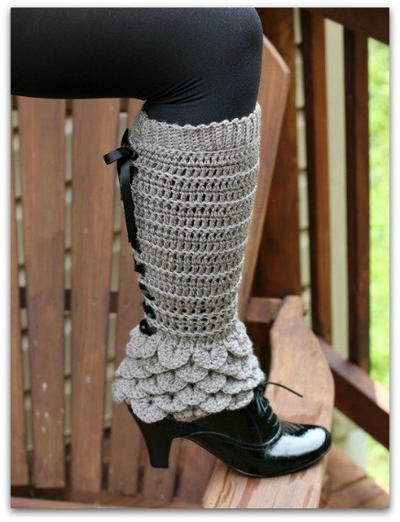 Crocodile Stitch Legwarmers