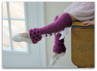 Crocodile Stitch Legwarmers (Babies & Kids)
