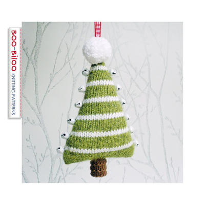 Jingle Bells Christmas Tree Knitting Pattern, Hanging Decoration, Holiday Ornament