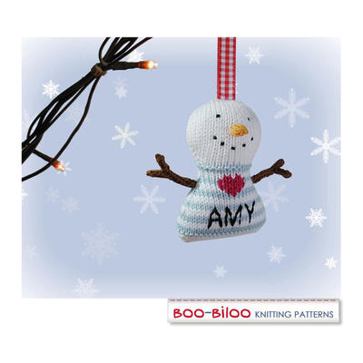 Snowman Knitting Pattern. Christmas decoration / holiday ornament