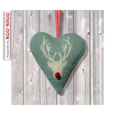Stag Heart Christmas decoration, ornament