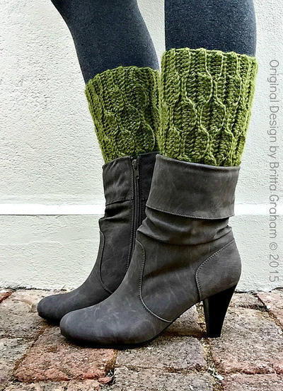 Boot Cuff Crochet Pattern No. 917