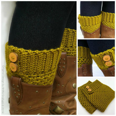 Button Up Boot Cuffs Crochet Pattern No.911