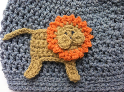 Lion and Elephant 3D Appliques Crochet