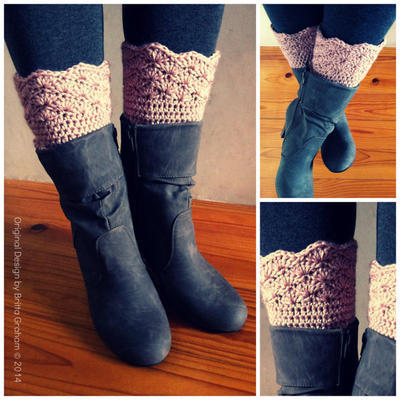 Shell Trim Boot Cuffs Pattern No.910