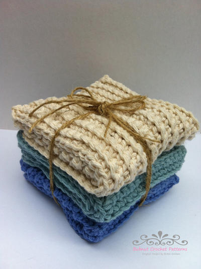 Three Modern Crochet Dish Cloth Patterns Scrubbies
