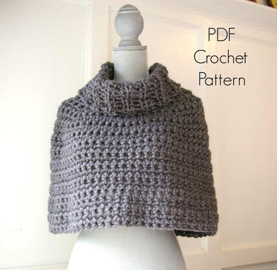 Crochet Pattern PDF Capelet Cowl
