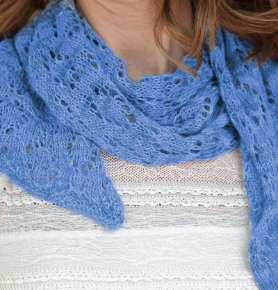 Eyelet Diamond Shawl Kit