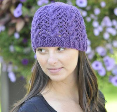 Lace and Cable Hat Kit