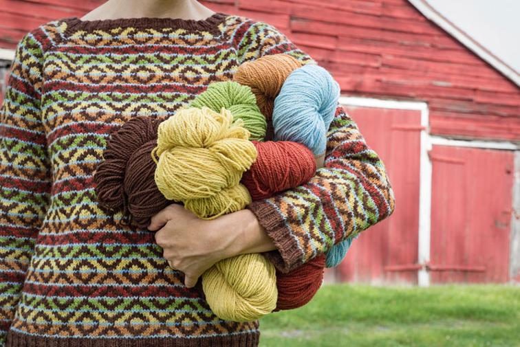 Rail Trail Colorwork Pullover