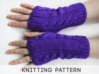 Fingerless Purple Gloves