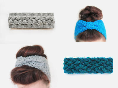 Pack of 4 Headband Knitting Patterns