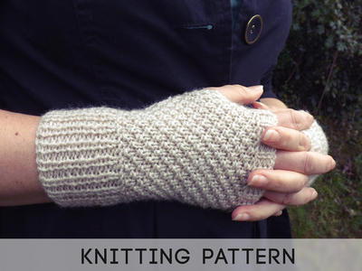 PDF Knitting Pattern Fingerless Gloves