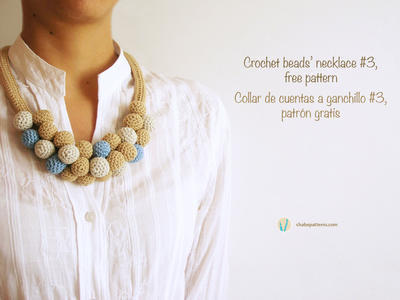 Crochet beads necklace #3