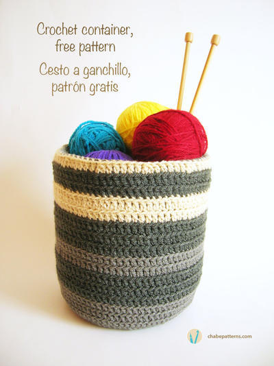 Crochet container