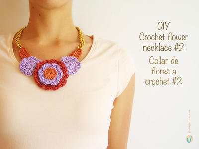 Crochet flower necklace #2