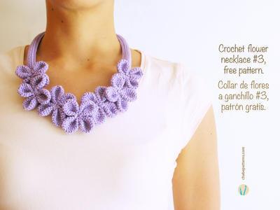 Crochet flower necklace #3