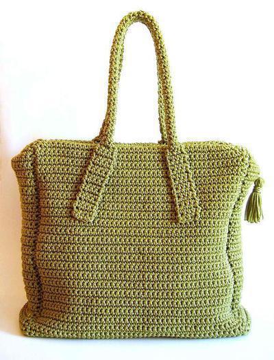 Crochet pattern for carryall bag