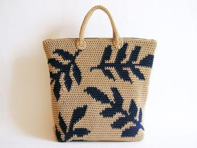 Crochet pattern for leaves backpack