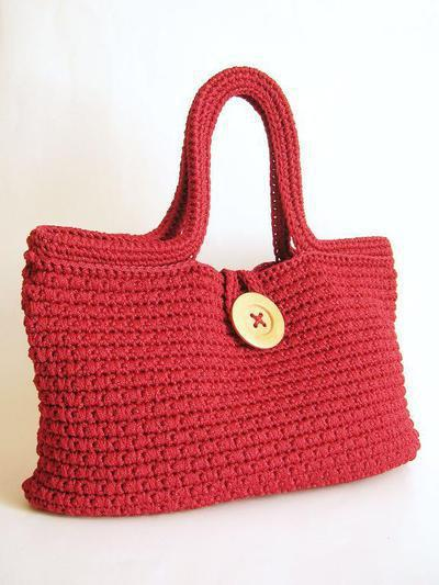 Crochet pattern for tapestry stitch bag