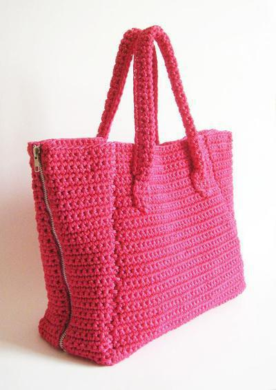 Crochet pattern for zipper sides bag