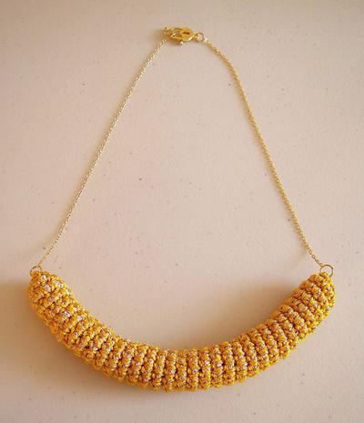 Tube necklace/ Collar de tubo