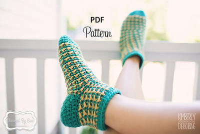Serenity Slippers Crochet Pattern Women's Socks