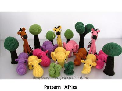 African animals and trees amigurumi crochet