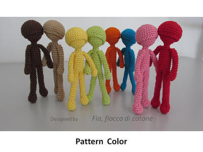 Pattern Color , doll amigurumi crochet