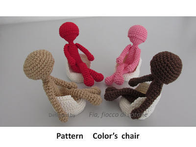 Pattern Color's chair,amigurumi crochet